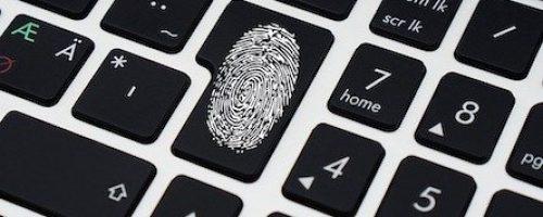 Fingerabdruck Tastatur